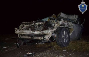 Terrible accident on the highway Tashkent-Termez: car brand
